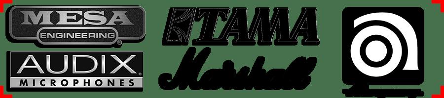 Mesa, Marshall, Ampeg, Tama, logo